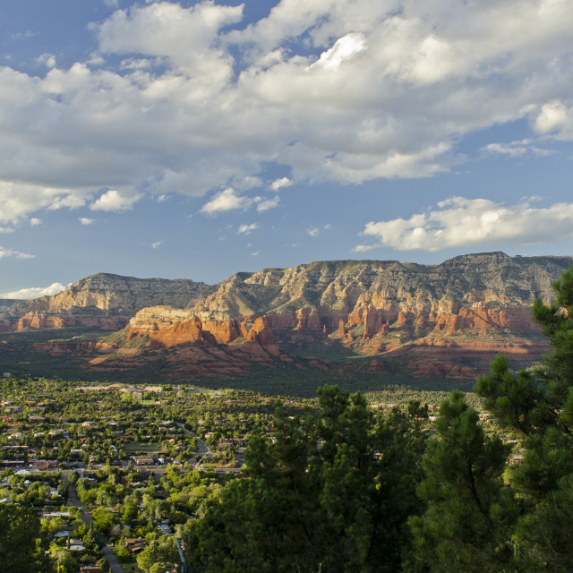 """Sedona Sunset"" stock image"