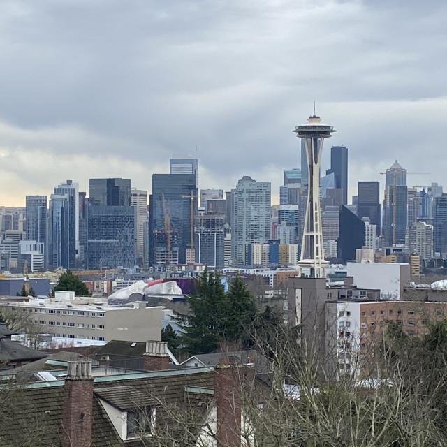 """Seattle skyline"" stock image"