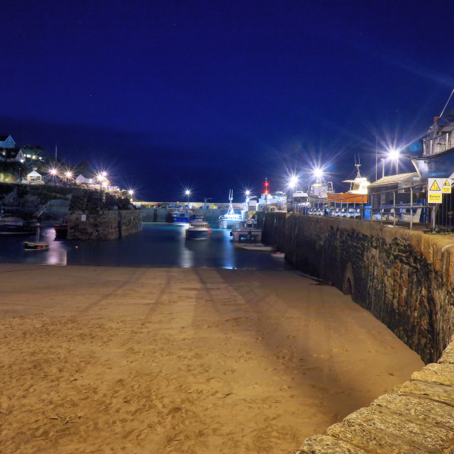 """""""Harbour Nights"""" stock image"""