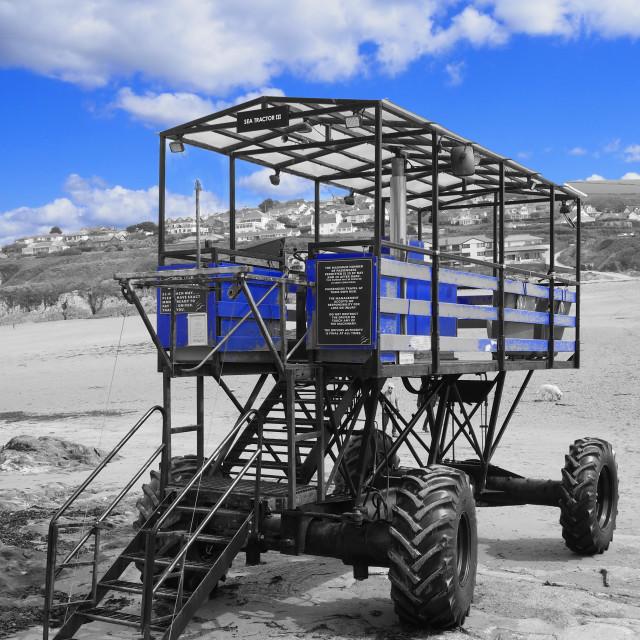 """Burgh Island South Devon Sea Tractor"" stock image"