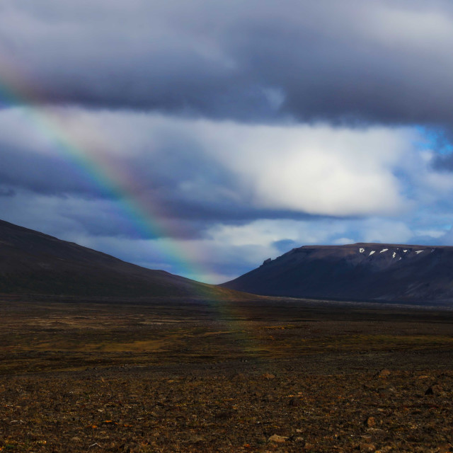 """""""The End of the Rainbow in Iceland"""" stock image"""