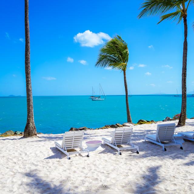 """Sand, Beach & Water - Airlie Beach"" stock image"