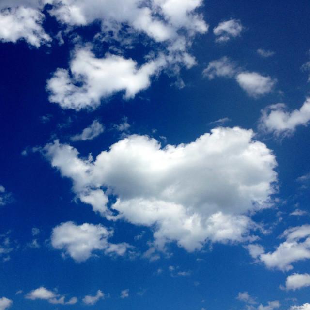 """Heart Shaped Cloud"" stock image"