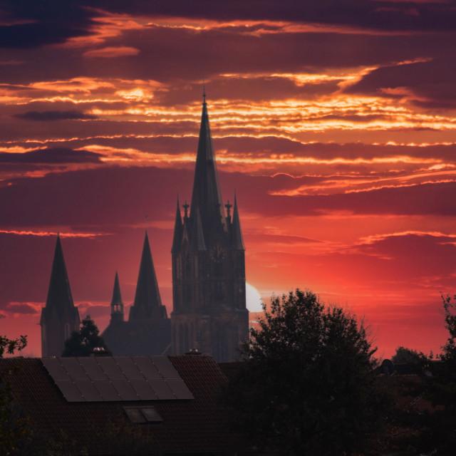"""St. Martin Kirche"" stock image"