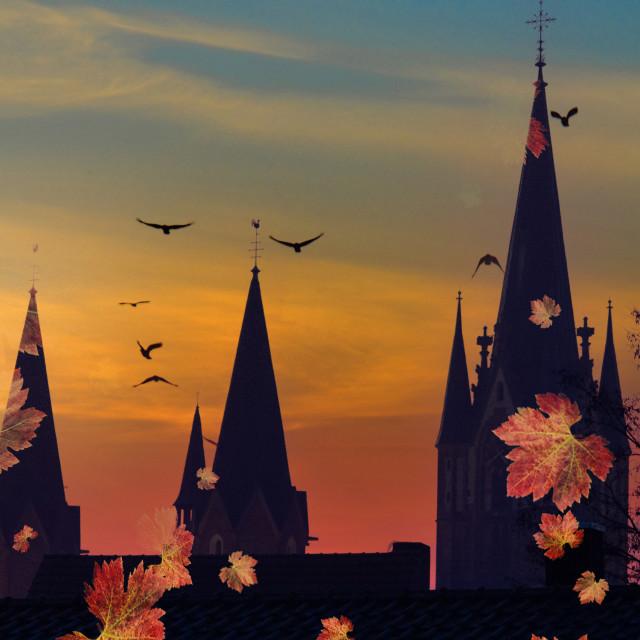 """Herbst in Sendenhorst"" stock image"