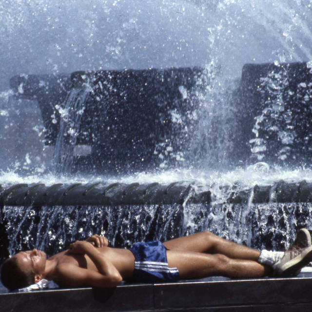 """Logan Circle Fountain, Philadelphia"" stock image"
