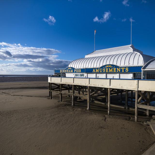 """Burnham-on-Sea in Somerset shortest pier in Britain"" stock image"