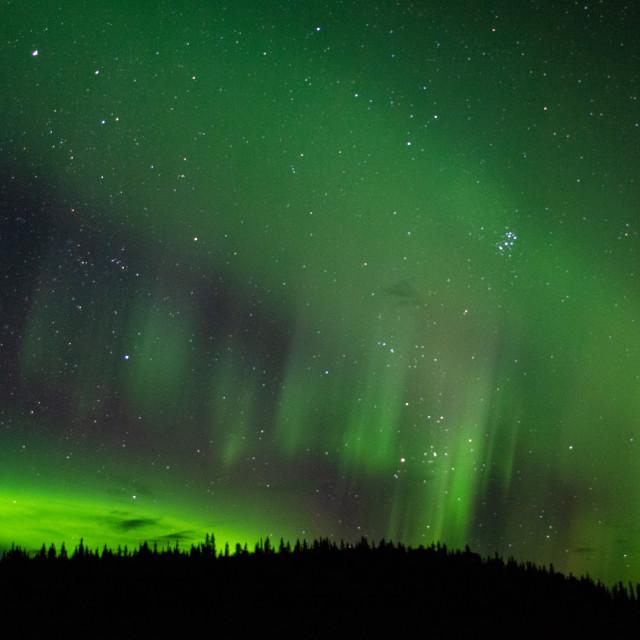 """Alaskan Night Light"" stock image"