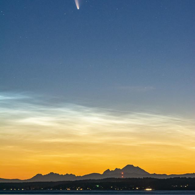 """Comet Neowise Sunrise"" stock image"