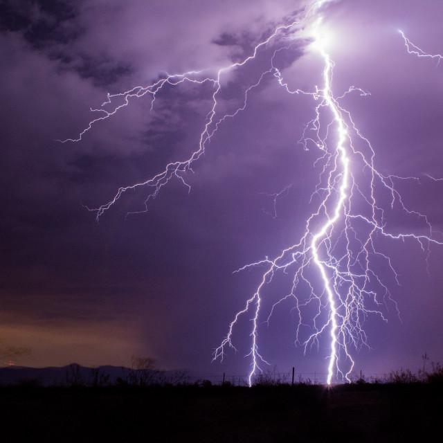 """Monsoon season in Arizona"" stock image"