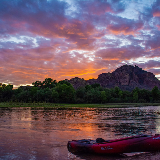 """""""Red Mountain Sunset"""" stock image"""