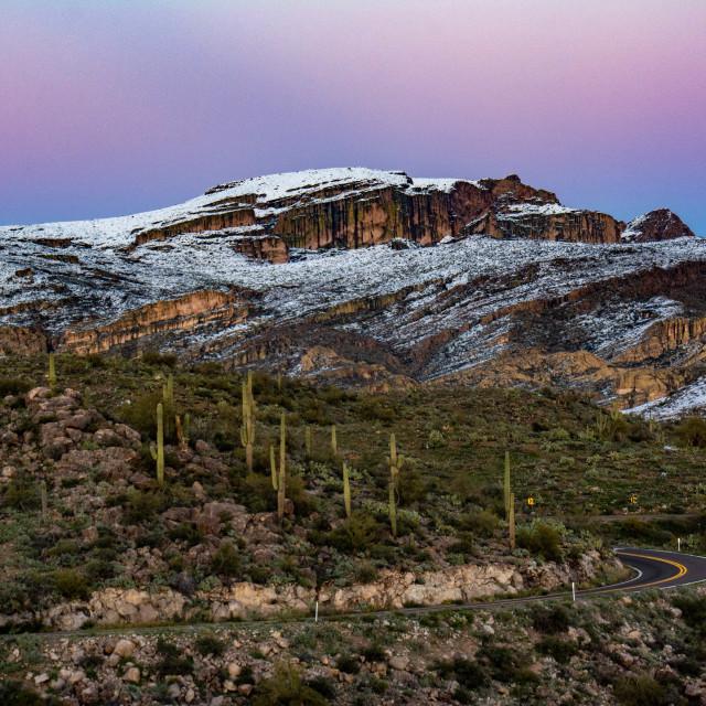 """Snow in the desert"" stock image"