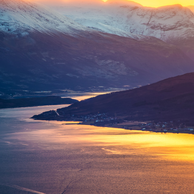 """Sunset in Norway"" stock image"