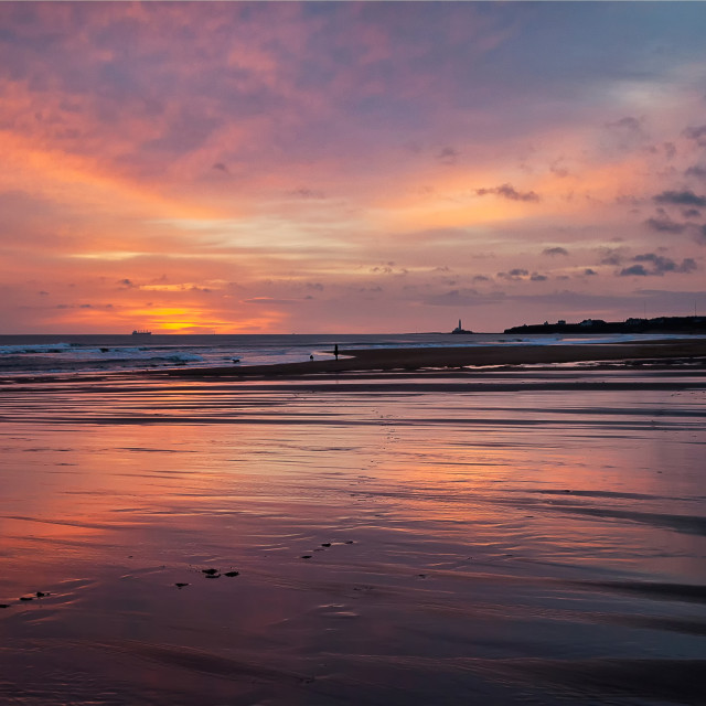 """December dawn at Blyth"" stock image"