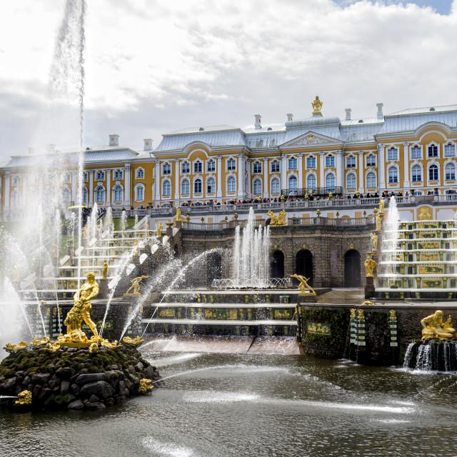 """Peterhof Palace"" stock image"
