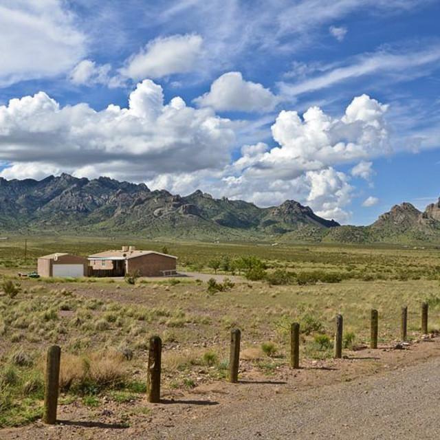"""Roadside 2 New Mexico"" stock image"