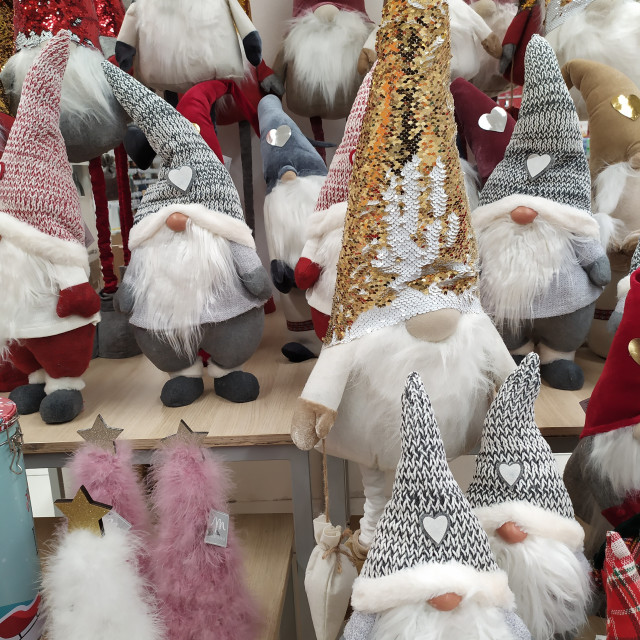 """""""Christmas decorations displayed in a shop"""" stock image"""