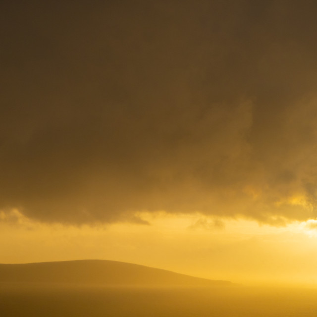 """""""View of Brean Down after the storm"""" stock image"""