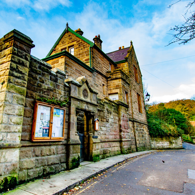 """Robin Hoods Bay, Yorkshire, England. The Old Police Station, Beckfield."" stock image"