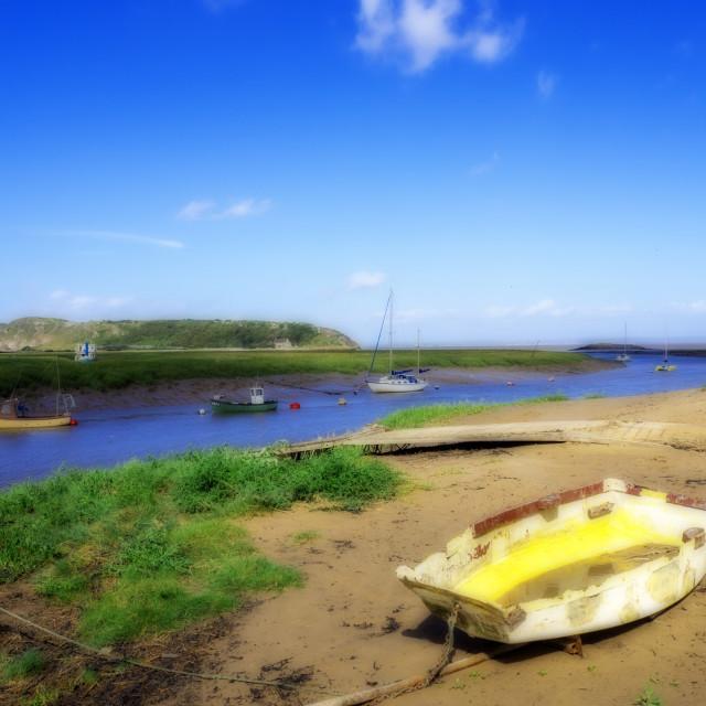 """Axe Estuary Weston Super Mare Somerset"" stock image"