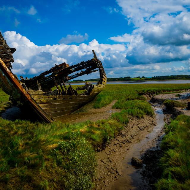 """Shipwrecks off Fleetwood"" stock image"