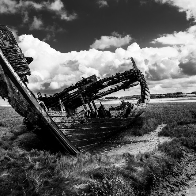 """Shipwreck off Fleetwood"" stock image"
