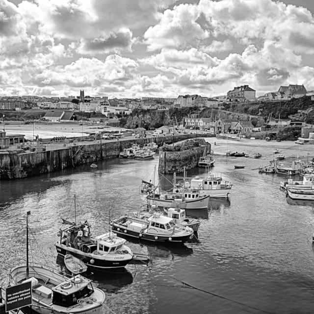 """""""The Harbour."""" stock image"""