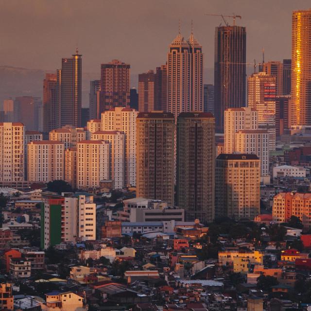 """Skyline Manila"" stock image"