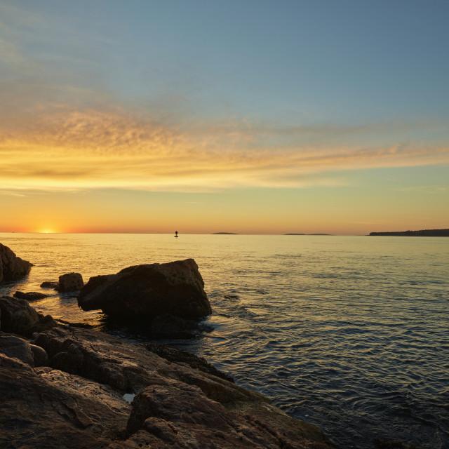 """""""Sunrise over Acadia National Park"""" stock image"""