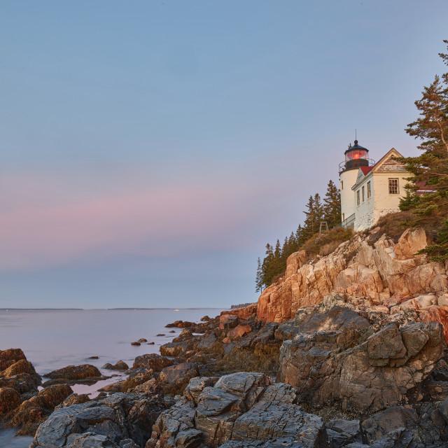 """Bass Harbor Head Lighthouse"" stock image"