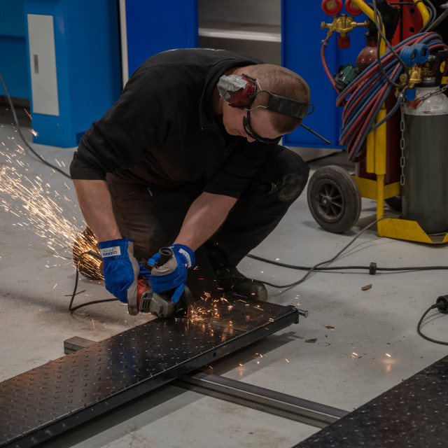 """Cutting metal"" stock image"
