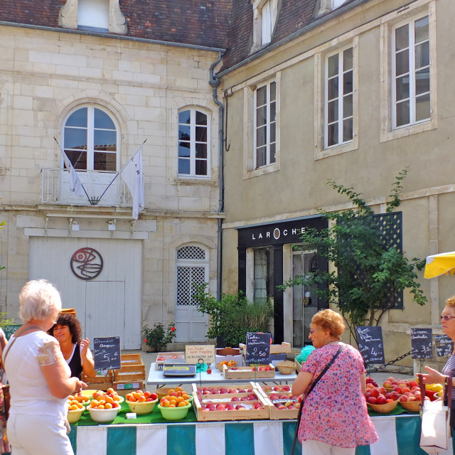 """Chablis Sunday Market Burgundy France"" stock image"