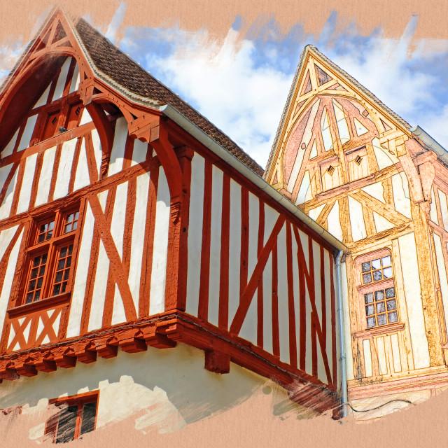 """""""Noyers Burgundy Art Photo"""" stock image"""