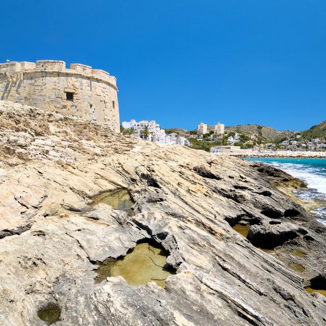 """Fortress of Moraira. Costa Blanca, Province of Alicante, Spain"" stock image"