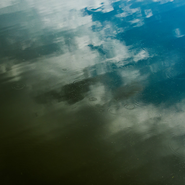 """""""Reflecting on Water #1"""" stock image"""