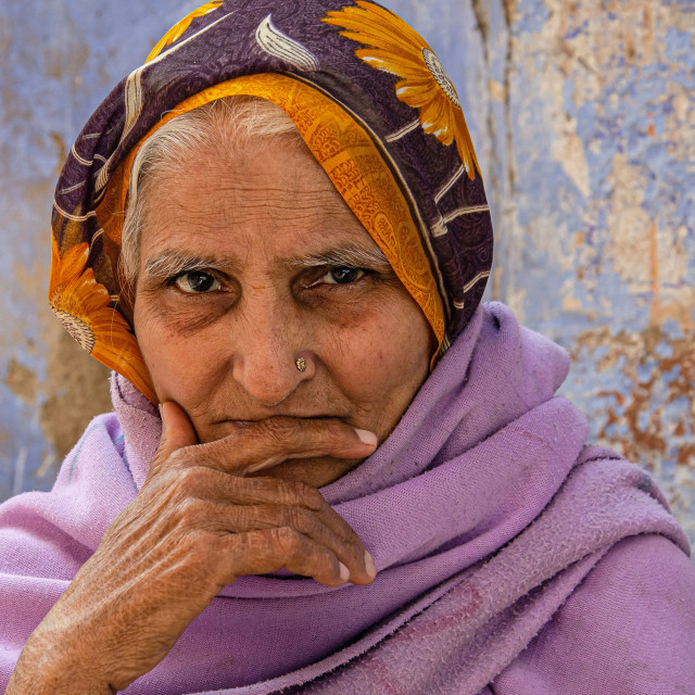 """JODHPUR WOMAN"" stock image"