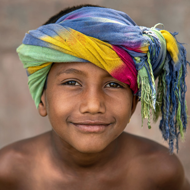 """YOUNG STREET VENDOR"" stock image"