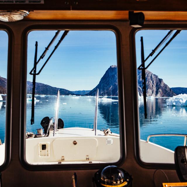 """""""Groenlandeis - Eisschmelze am Narssap Sermia Gletscher"""" stock image"""