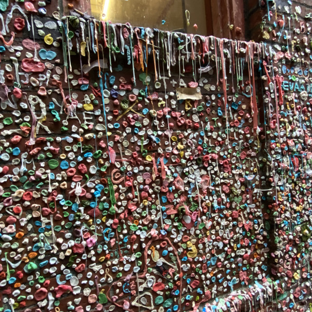 """""""Gum Wall, Seattle"""" stock image"""