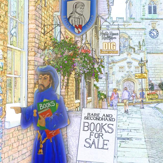 """Stratford on Avon - Shakespeare country"" stock image"