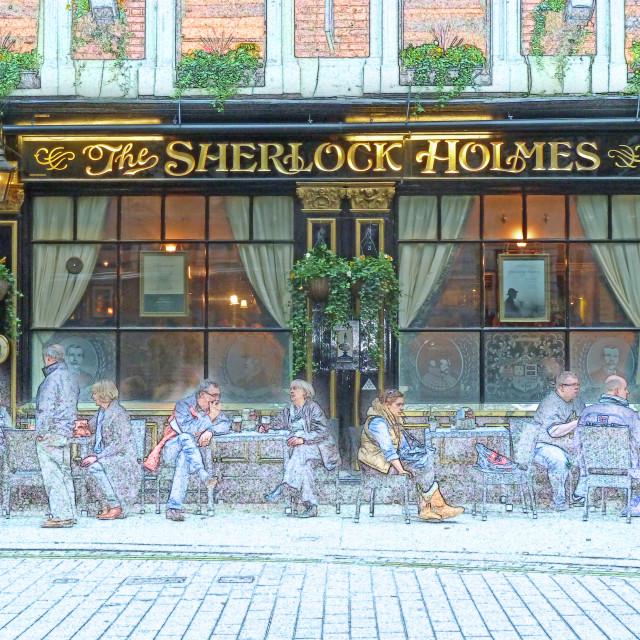 """Sherlock Holmes Pub Charing Cross London"" stock image"