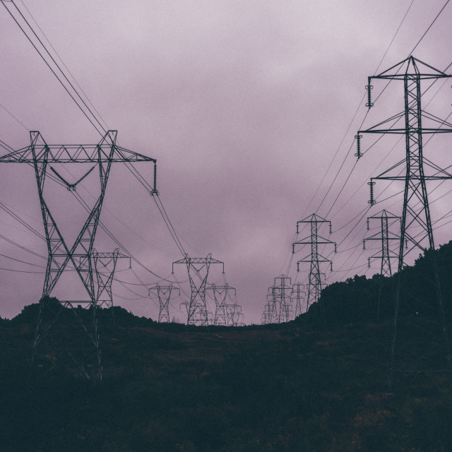 """""""power lines"""" stock image"""