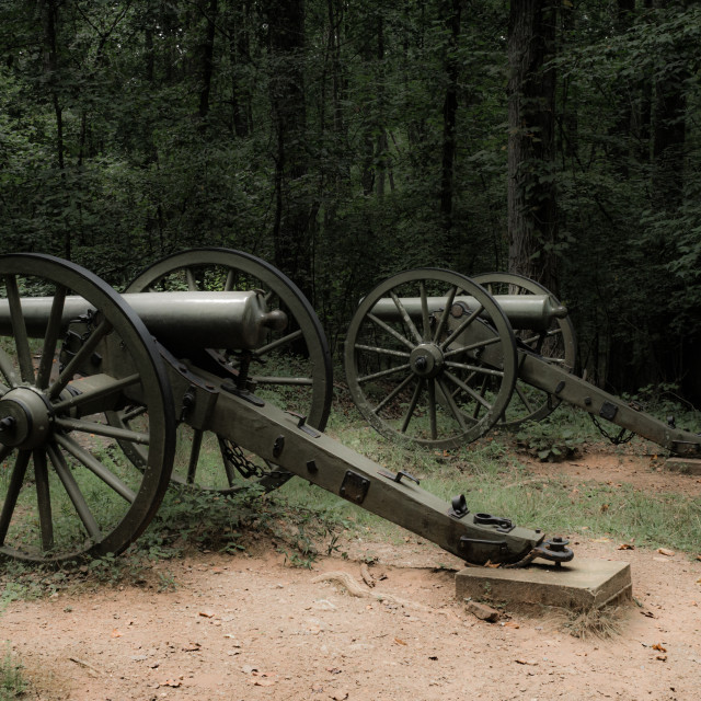 """""""Civil War Cannons"""" stock image"""
