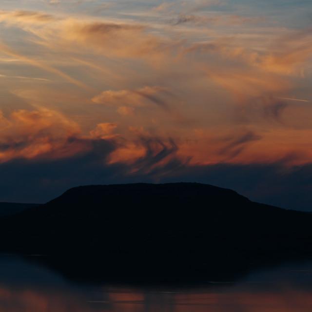 """Restless sunset"" stock image"