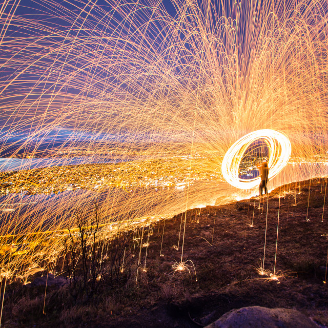 """Light painting Tromso Norway"" stock image"