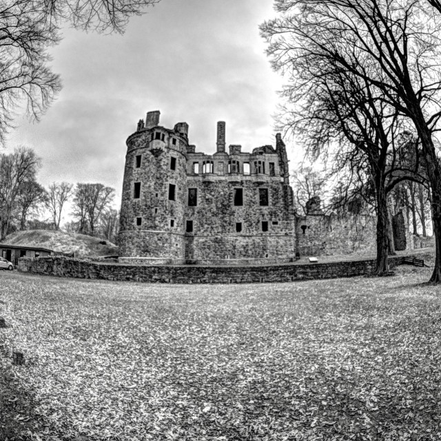 """Huntly Castle"" stock image"