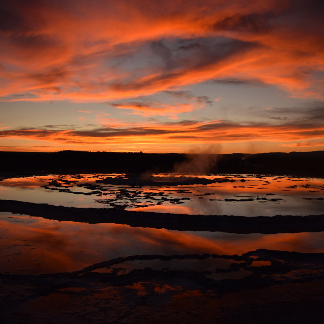 """""""Great Fountain Geyser"""" stock image"""