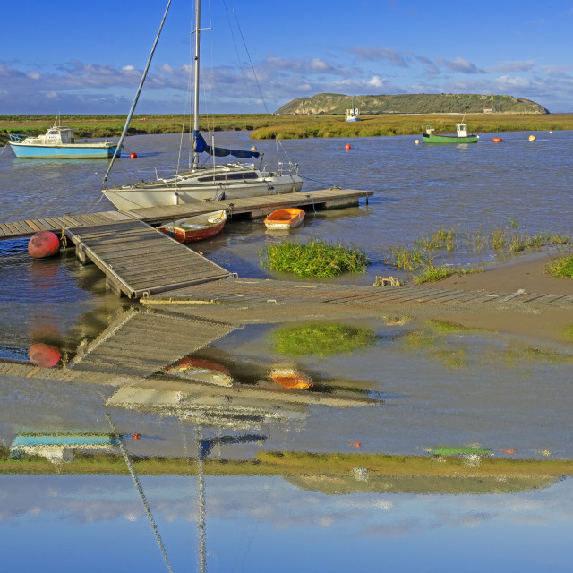 """""""Brean Down from the Estuary"""" stock image"""