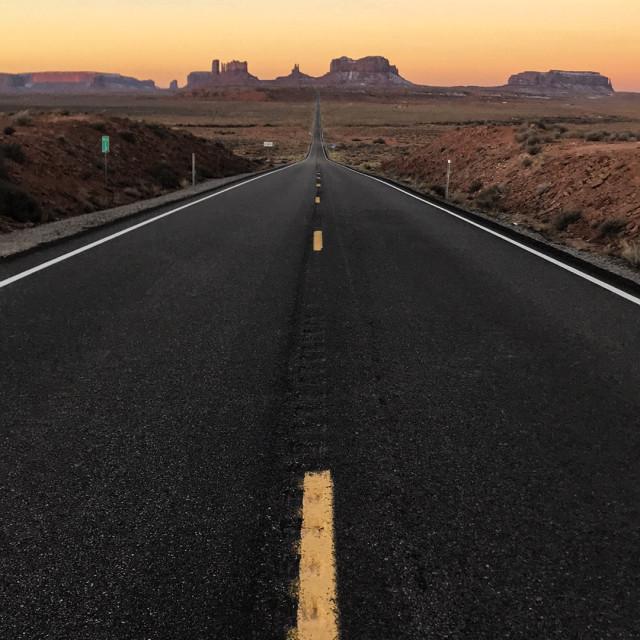 """Navajo sunrise"" stock image"