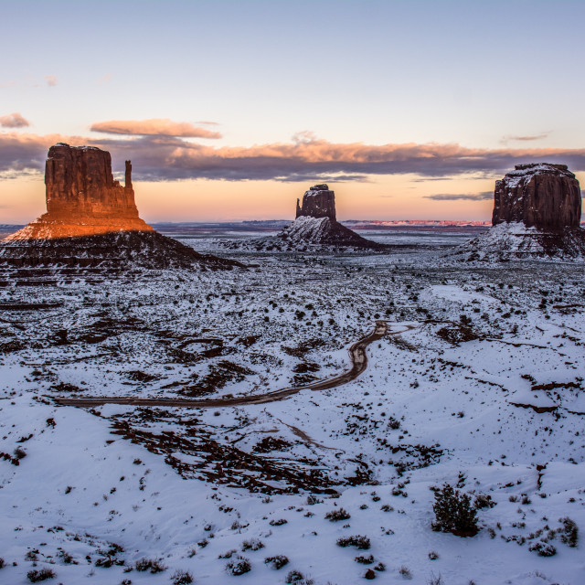 """""""Winter Monuments"""" stock image"""